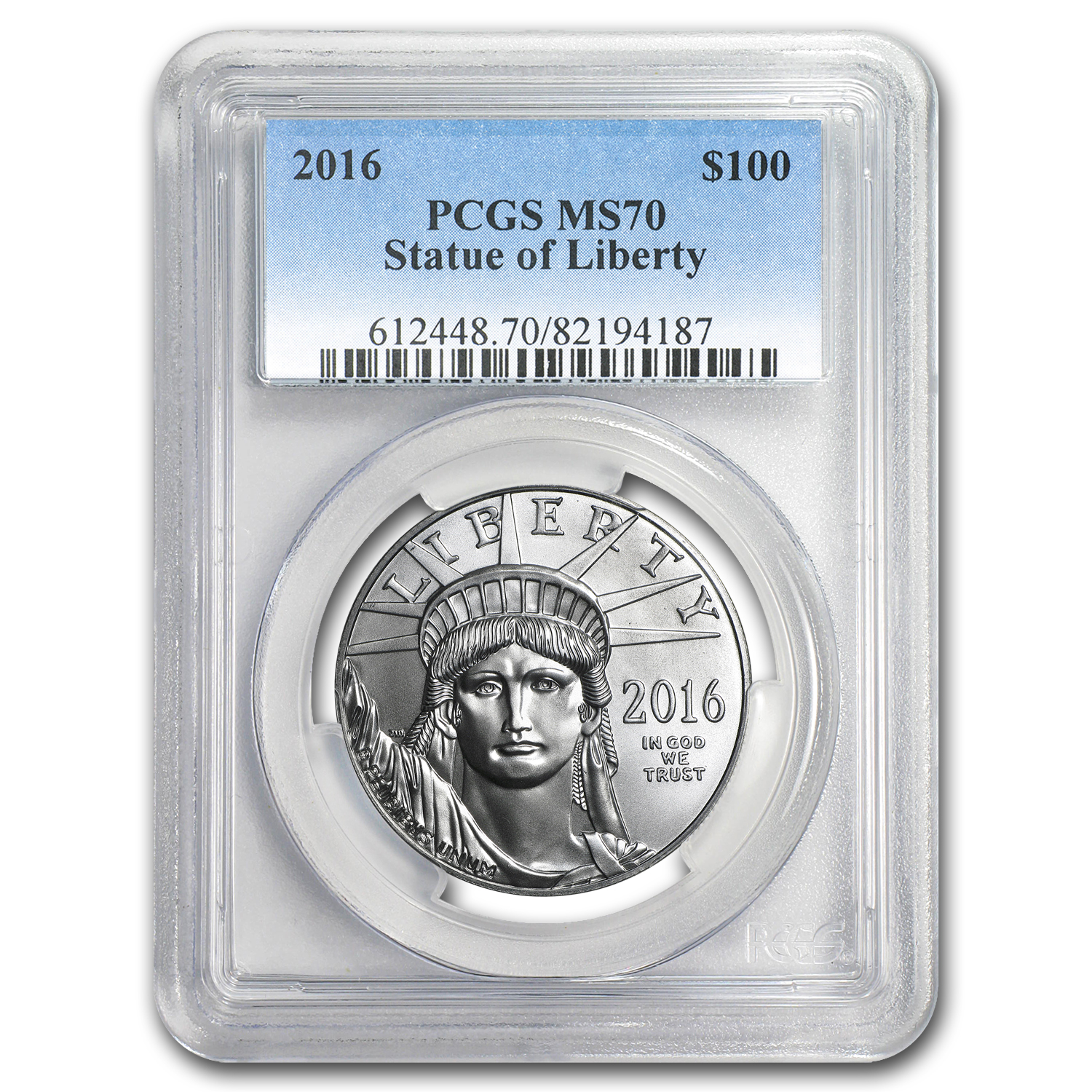 2016 1 oz Platinum American Eagle MS-70 PCGS